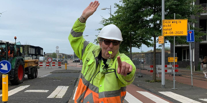 Afsluiting wagenwerkplaats ingang Piet Mondriaanlaan van 24 aug t/m medio oktober