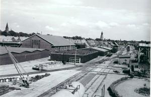 Overzicht Wagenwerkplaats begin 20e eeuw