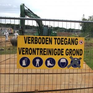 Bord Verontreinigde grond - sanering